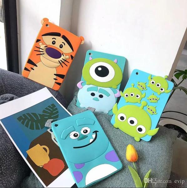 Promoción Funda de tableta Funda de dibujos animados para niños niñas con parachoques de silicona para iPad mini1 / 2/3 iPad Pro 10.5 pulgadas Fundas para Tablet PC