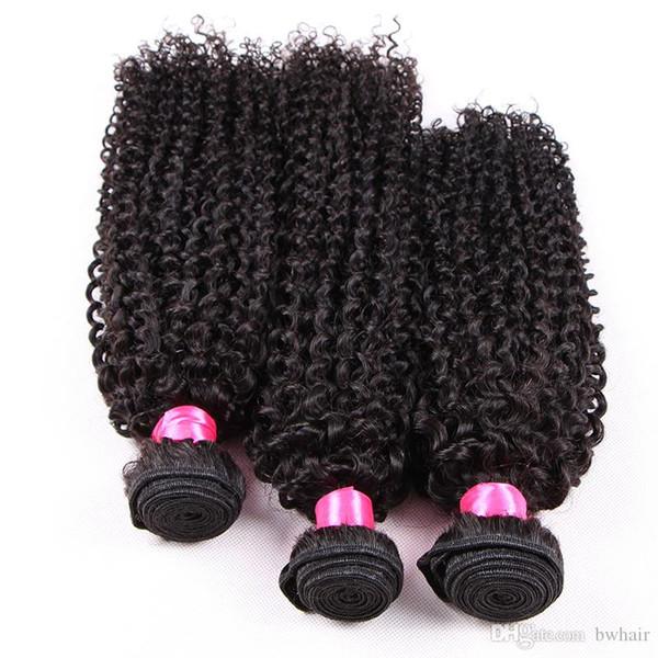 DHL Fedex Ücretsiz jet siyah kahverengi renk% 100% İnsan saç çift çizilmiş kinky kıvırcık bakire remy moğol malezya brezilyalı saç örgü demetleri