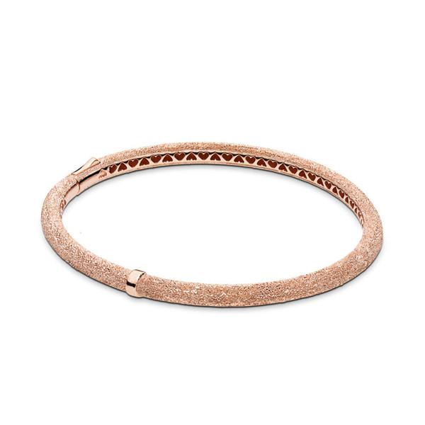 2019 Primavera Real 925 Sterling Silver Original Rose Brilho Brilho Europa Pulseira Mulheres Fit Bead Charm Bracelet DIY Jóias