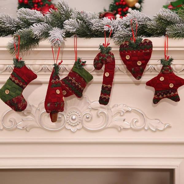 1шт рождественской елки кулон Рождество костыли сапоги перчатки украшения висит падение Рождественский украшения дома