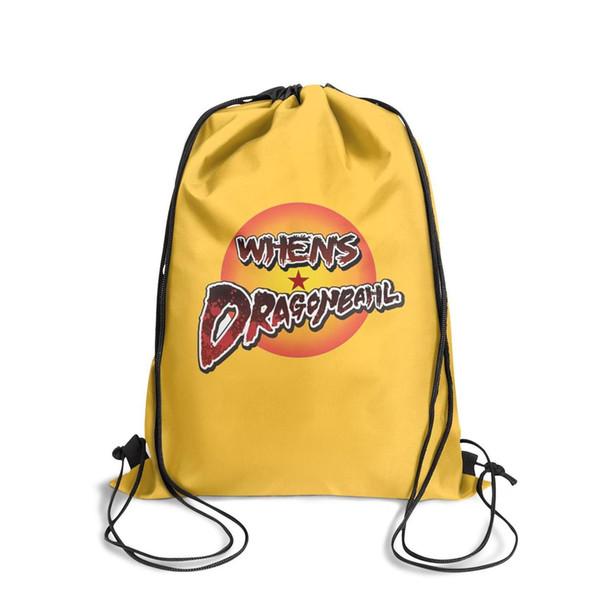 Drawstring Sports Backpack Dragon Ball Z Dokkan Battle logo cool adjustable Travel Beach Travel Fabric Backpack