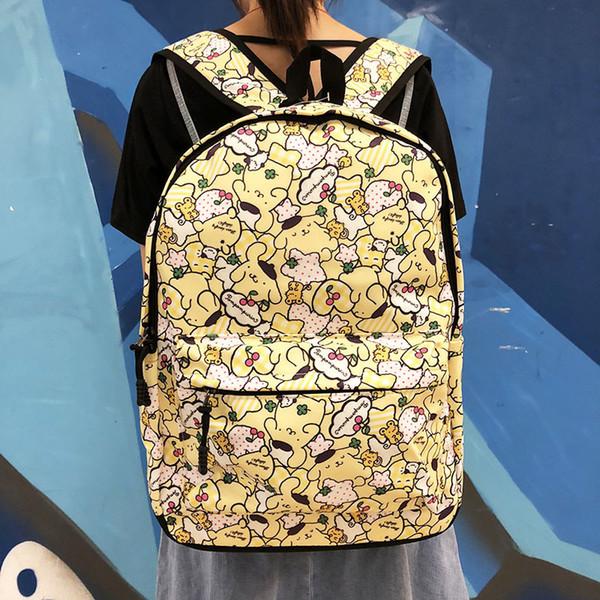 Casual viajes 1pcs Pom Purin bolsa de Oxford Mochilas Mochilas Mochila de dibujos animados Estudiante Schoolbags mochila al aire libre Nuevo