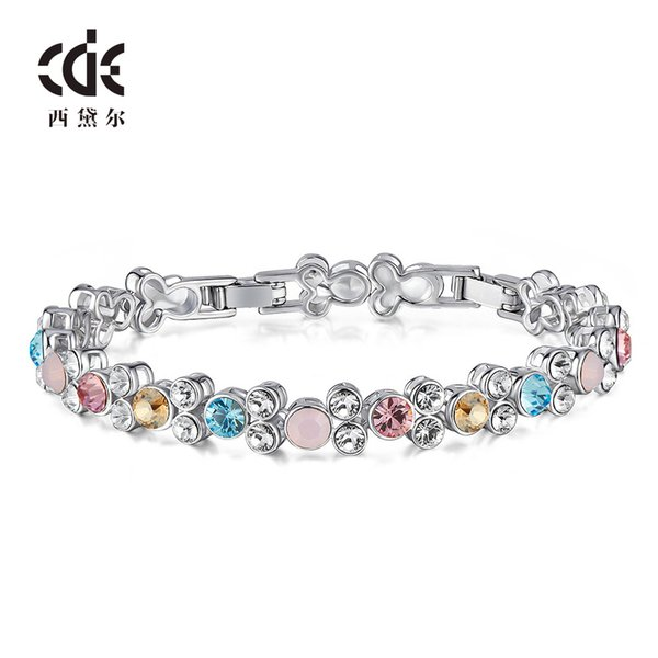 Wedding Party beaded pearl gift woman lady diamond jewelry Bracelets for bride acting initiation graduation CDE-1377