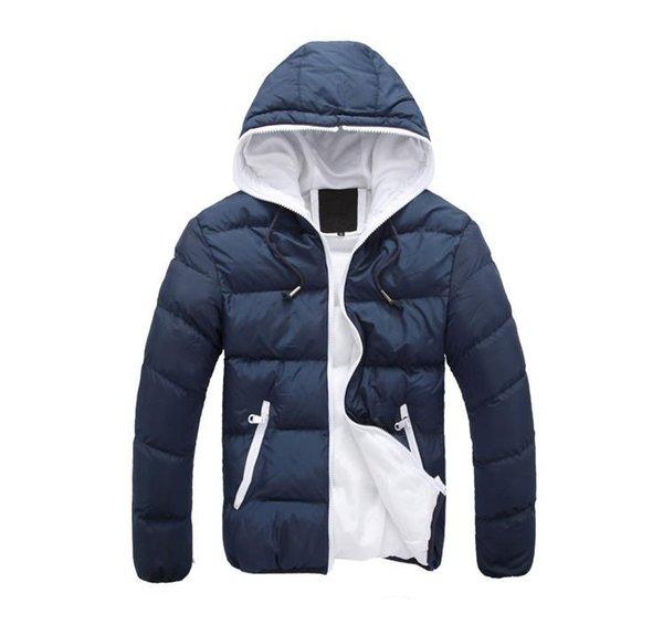 Kış Erkekler Ceketler Sıcak Ceket Erkek Ceket Uzun Kollu Marka Spor Ceket Kış Aşağı Parkas adamın Palto M-4XL