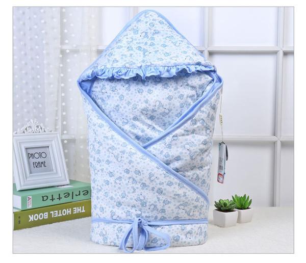 0-12 meses de outono bebê quilt envelope para bebê recém-nascido inverno swaddle blanket wrap bonito sacos de dormir 100% algodão cama