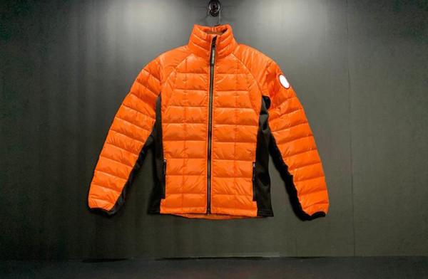 Kanada goosedown ceket kış standı yaka baykuş rozeti kat aşağı parlak ceket lüks marka Hafif mektup nakış apolet mens