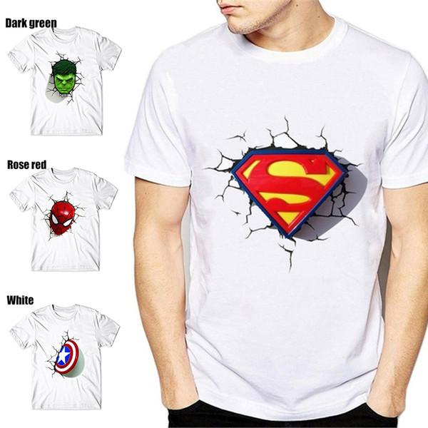 Mens Designer T-Shirt Sommer Lustige Comic-Superheld Männer-T-Shirt-Qualitäts-Baumwollbeiläufiges Rundhalsausschnitt kurz T Shirt Größe S-3XL