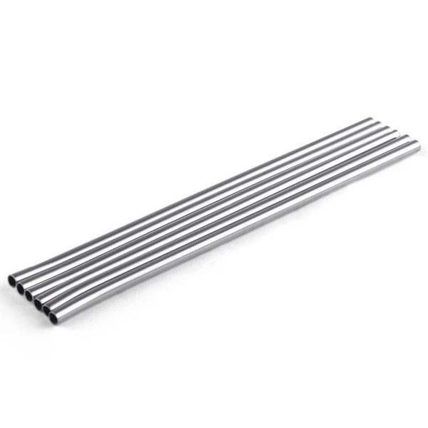 Stainless Steel Straws 215*6mm Straight Metal Drinking Straws Beer Fruit Juice Drink Bar Straws 300pcs OOA7085