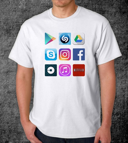 My Apps -Men's Graphic T-ShirtFunny free shipping Unisex Casual Tshirt