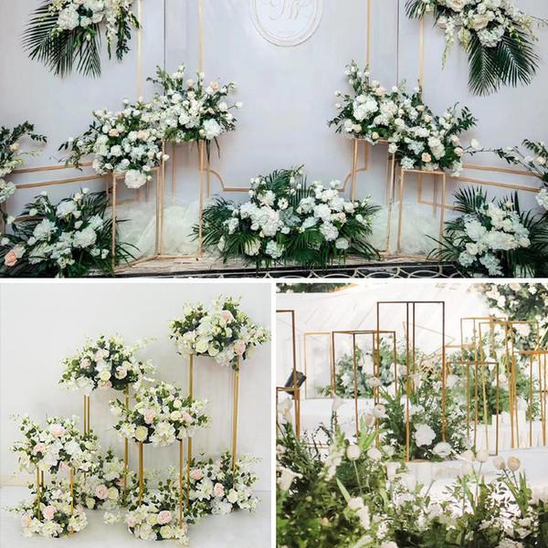 DIY Wedding Centerpieces Stage Backdrops Aisle Walkway Floor Vases ...