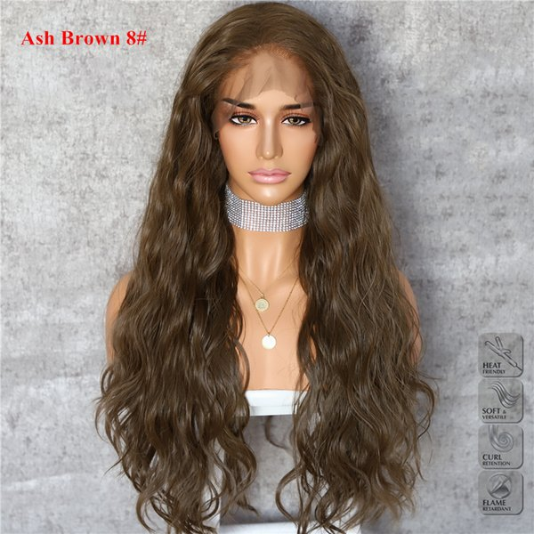 New Halloween Ash Brown 8# Natural Wave Heat