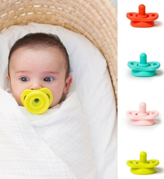 top popular Silicone Nipple Food Grade Soft Silicone For Newborn Nipples Feeder Flexible Infant Cleaner Pacifier Funny Soother Baby Pacifier LSK35 2021