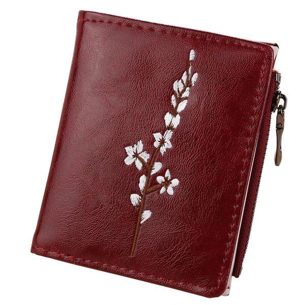 Portefeuilles pour femmes Porte-monnaie pour femmes Porte-cartes Hasp Zipper Porte-monnaie Porte-monnaie Floral Femme Portefeuille Filles Fleur Sacs d'argent Sac Pouch Poche