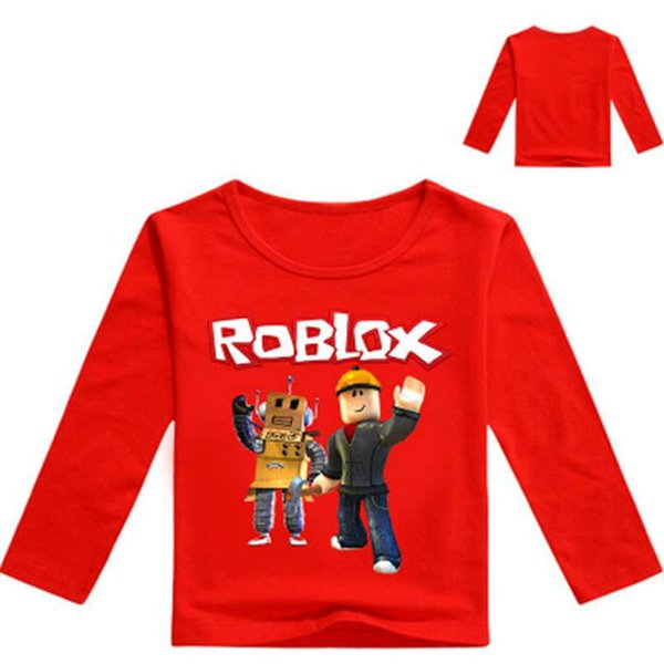 Bambini Roblox Game Print T shirt Bambini Primavera Abbigliamento Ragazzi Full Sleeve O-Collo Felpe Ragazze Pullover Coat Clothes