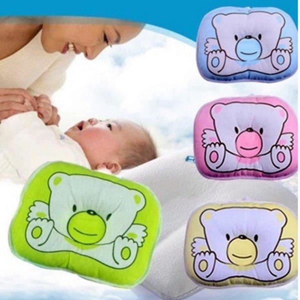 Recién nacido Infantil Bebé Oso Patrón Almohada Apoyo para Dormir Prevenir la Cabeza Plana Cojín Peluche Forma Animal Lindo Suave Almohada