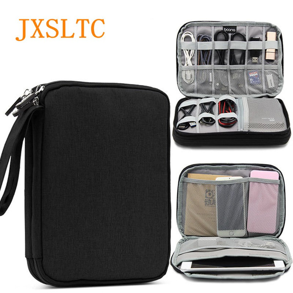 JXSLTC Electronic Travel Accessories Oxford Cloth SD Card USB Data Cable Charger Organizer Bag Portable Multi-function Package
