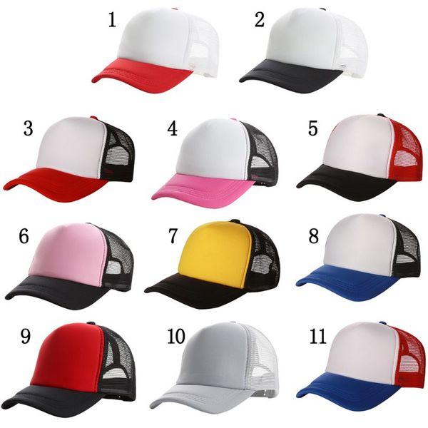 Unisex Mujer Sombreros Gorra de béisbol 2019 Mesh Gorras de verano para hombre Color sólido Ajustable Sombrero de deportes al aire libre