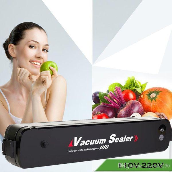 Best Electric Vacuum Food Sealer Packaging Machine 110V 220V Universal Home Film Sealer Vacuum Packing Machine Including 15Pcs Bags