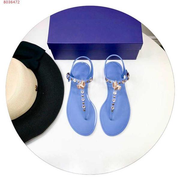 Hot Sale-La dernière version Sandales femmes, sandales à bouts plats avec des chaussures en strass, une variété de sandales plates sont disponibles