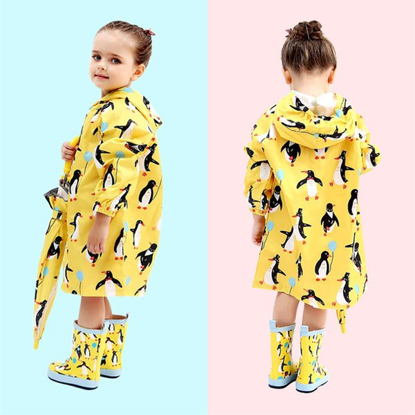 long Raincoat For Children Kids Baby Rain Coat Trench Poncho Child Chubasqueros capa de chuva