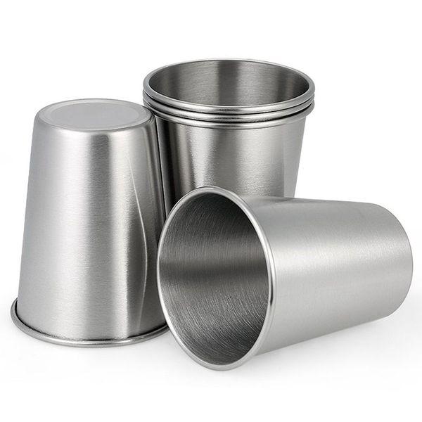5 шт кружка из нержавеющей стали кружка из нержавеющей стали чашки стакана 350 мл