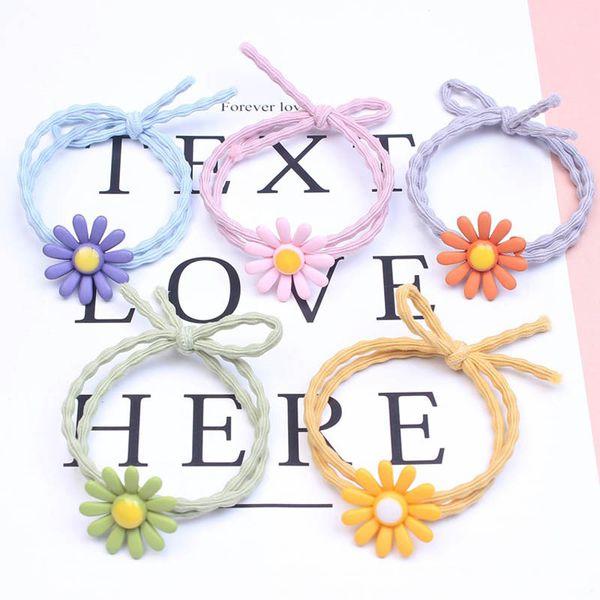 Korean Fashion Mädchen Haar Haargummis Blume Kinder Haarbänder Designer Haarschmuck für Frauen Haargummis A6521