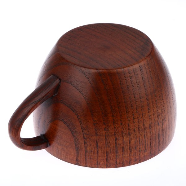 tea 210ml Tea Natural Jujube Wooden with Handgrip Wine Beer Milk Coffee Cup for Home Bar Kitchen Accessories
