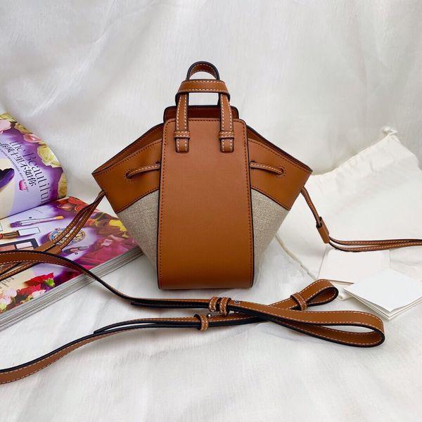 Sac à bandoulière en daim de taille mini en cuir véritable et en tissu de coton, matériau de liaison beige, sac à bandoulière diagonale pour femmes
