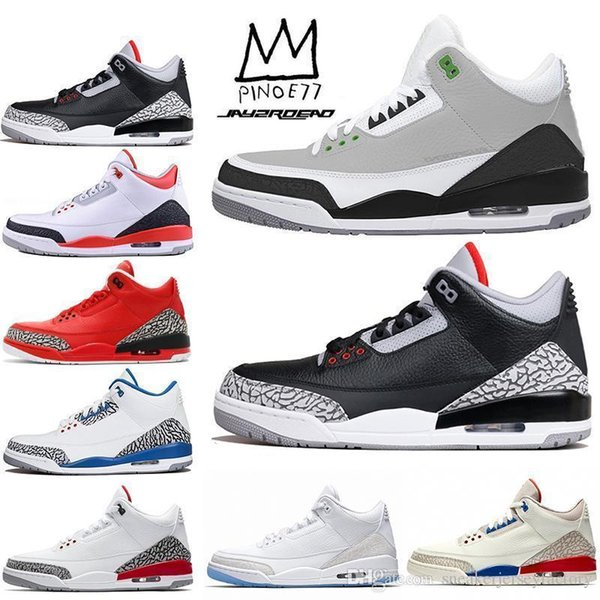 lfssba 3 Tinker NRG ciment noir blanc Katrina Hommes 3s chaussures de basket-ball hommes chaussures de plein air Designer espadrilles chaussure de sport US 7-13