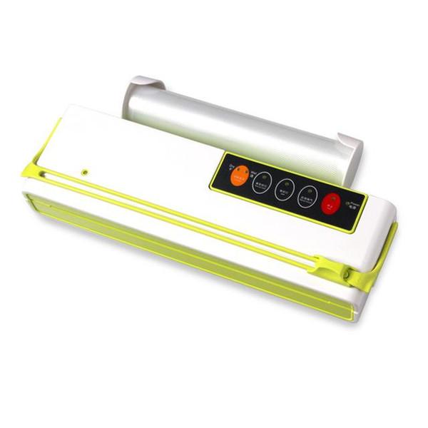 Вакуумная упаковочная машина Mini автоматическая Food Vacuum Sealer Собственный Режущий нож Сумка Slot Вакуумные Packer В том числе 10Pcs Сумки
