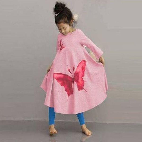 d069a17414 Moda Primavera Verão Crianças Meninas Vestir Roupa Dos Miúdos Do Bebê Da  Criança de Algodão Casual