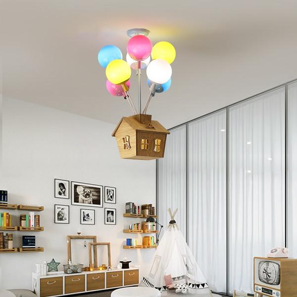 Grosshandel Cartoon Farbe Ballon Pendelleuchten Junge Madchen Schlafzimmer Kinderzimmer Pendelleuchte Moderne Led Haus Pendelleuchte Freies Shiiping