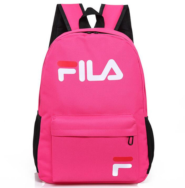 Pink Letter Outdoor Sport Backpack Waterproof Packs Fashion Leisure Backpack Travel Shoulder Bag Plain Color Unisex Backpack