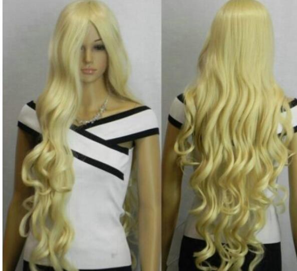 Бесплатная доставка++ + Новый Свет блондинка 100 см удлиненные женщины парик