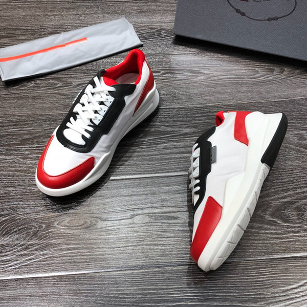 brand mens Designer sneakers unisex trainers shoes running shoes for men womens runners flats Genuine Leather brand racer luxury tc190612