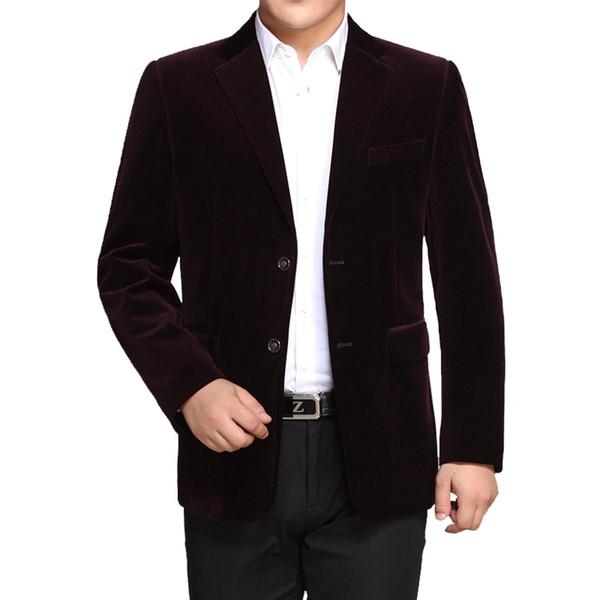 WAEOLSA мужчины полосатый бархат блейзеры элегантный простой цвет костюм пальто человек шерсть Blazer Hombre Вельвет костюм мужчины куртки Красный темно-синий