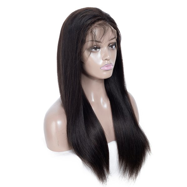 AiChen Long Full Lace Human Hair Wigs For Women Straight Brazilian Hair Wig Vigin Hair 150% Density Wig Free Shipping Wholesale 150% Density