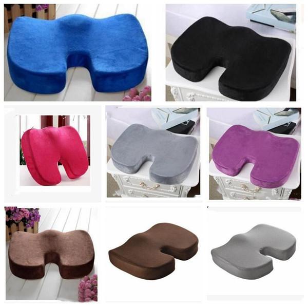 Travel breathable eat ma age chair cu hion pad for car office home decoration cu hion coccyx orthopedic memory foam u eat lxl125