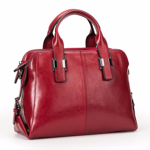 Glitzy2019 Leather Genuine Woman Package Handbag Will Bag Concise Cowhide Oblique Satchel