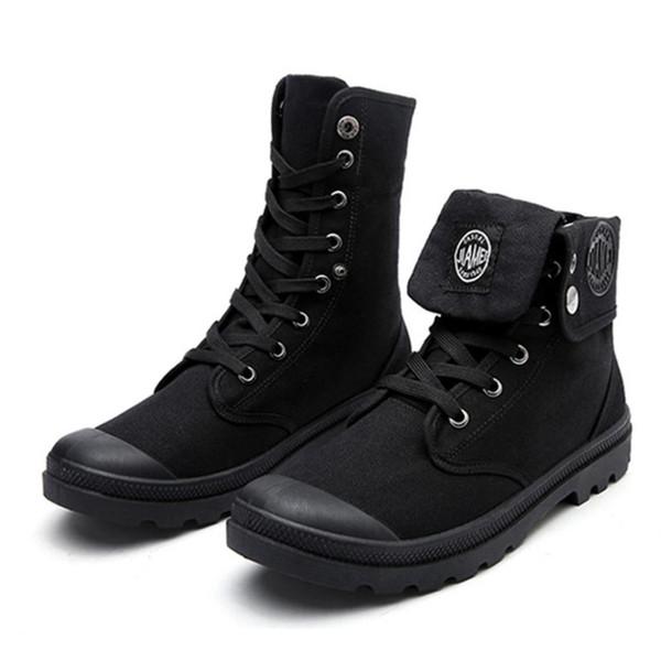 2018 Yeni Erkek Ayakkabı Erkek Çöl Çalışma Ayak Bileği Çizmeler erkek Çalışma Savaş Dikiş Botas Rahat Kanvas Ayakkabılar Erkekler