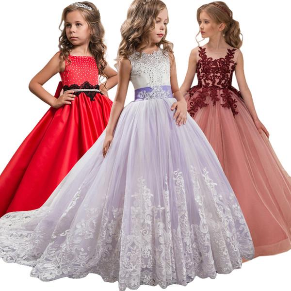 Compre Niña De Las Flores Vestidos De Fiesta Para La Noche Vestidos De Niños Vestidos Para Niñas Vestido De Princesa Vestido De Adolescente 7 8 9 10