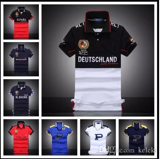 Camisas de polo para hombres Camisas de equipo de manga corta 100% algodón para el cliente Todas las tallas