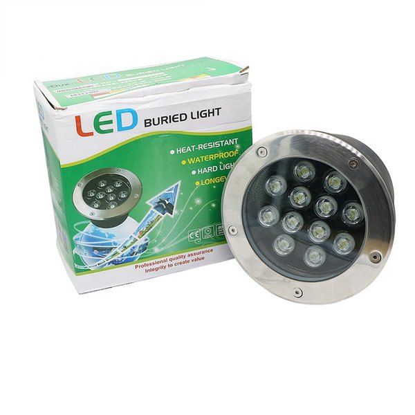 Lámparas subterráneas Edison2011 12W LED Iluminación exterior LED DC 12V CA 85V ~ 265V IP67 Piso de camino de jardín Buried Yard Spot Lámpara