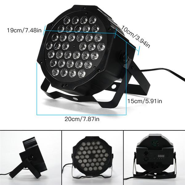 36 LED Par Lights RGB Colorful 7 Lighting Modes Stage Lights Flexible Remote Control DMX Control Disco Lights US Plug