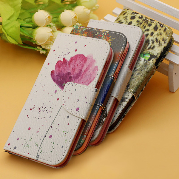 Luxury Flip Pu Leather Cover Case For Samsung Galaxy S3 S4 S5 Mini S6 S7 Edge A3 J3 A5 J5 A6 A8 Plus Cell Phone Cases