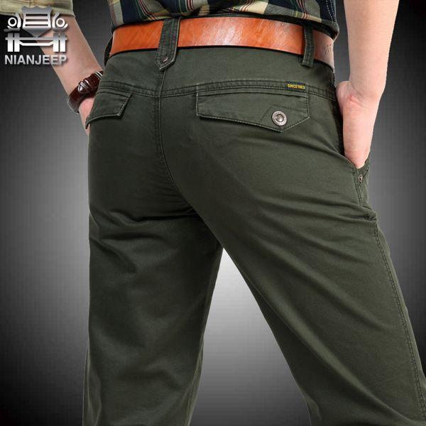 Mens Pants Casual Pockets Cotton Cargo Pants Men Black Army Male Trousers Summer Pantalon Homme Big Size
