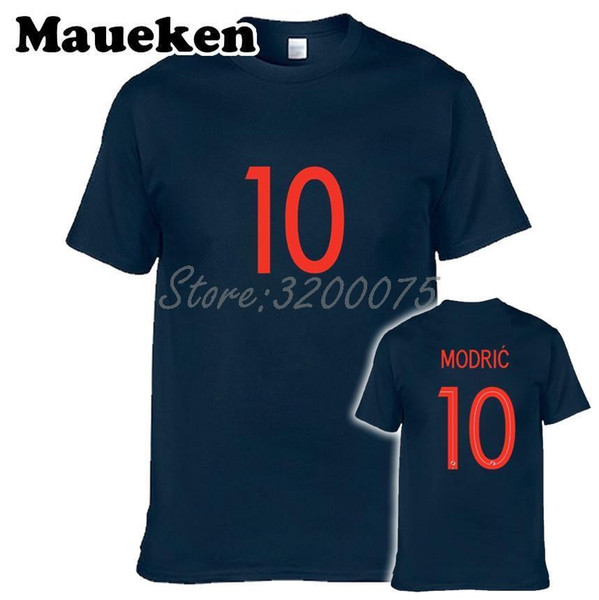 Men T-shirt Luka Modric 10 Croatian Croatia Core Legend Captain Real Clothes T Shirt Men&s For Madrid Fans O-neck Tee W18061130