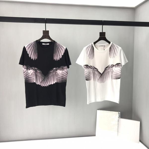 2019 mens designer t-shirts tee luxe Angel ailes modèle classique vêtements à manches courtes chemises hommes femmes étiquette réelle New 19ss