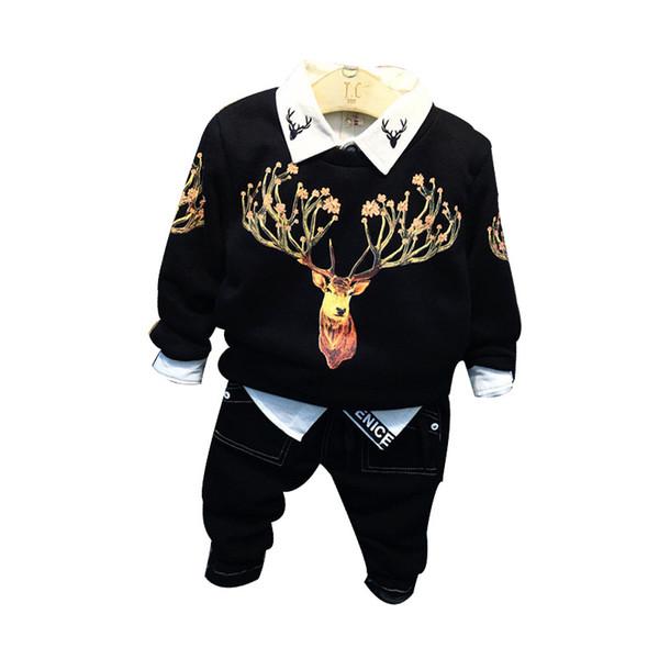 2019 New Arrival Baby Boys Felpe Inverno Primavera Autunno Bambino Felpe con cappuccio maniche lunghe T-shirt per bambini