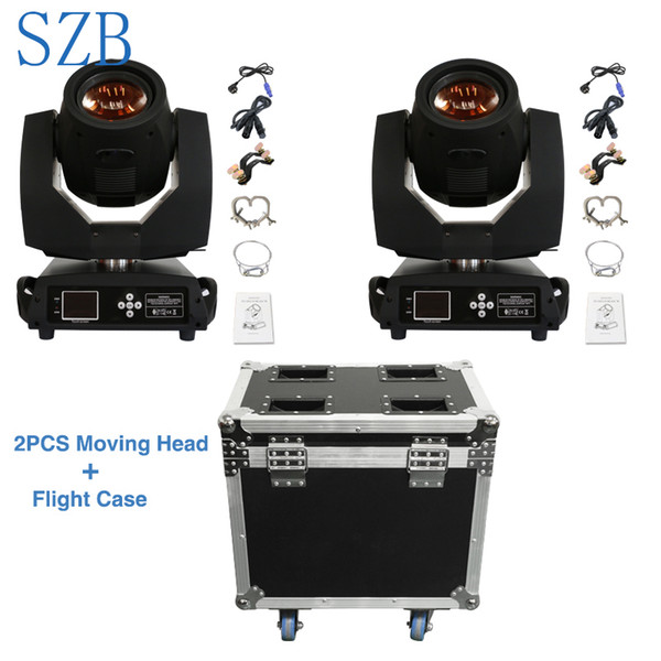 SZB 2pcs Sharpy Beam Lyre 230 Beam 7R Moving Head Light with 2in1 Flight Case Package for DJ Nightclub Party/SZB-MH230